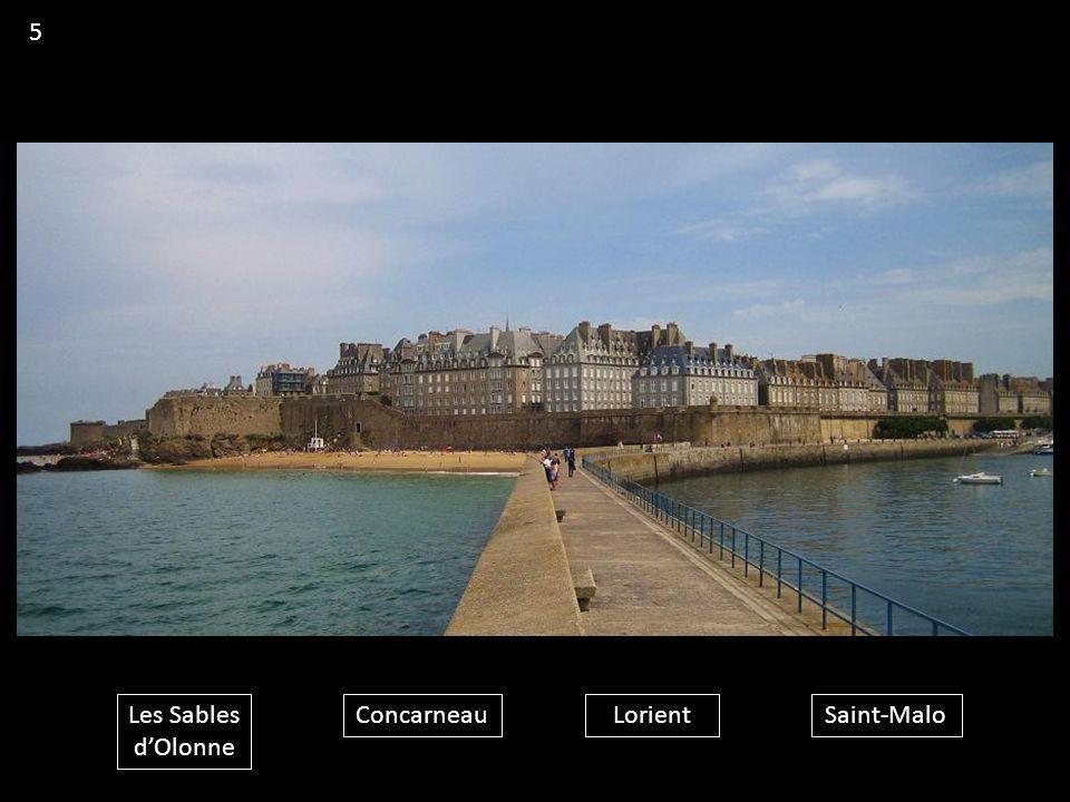 5 Les Sables d'Olonne Concarneau Lorient Saint-Malo