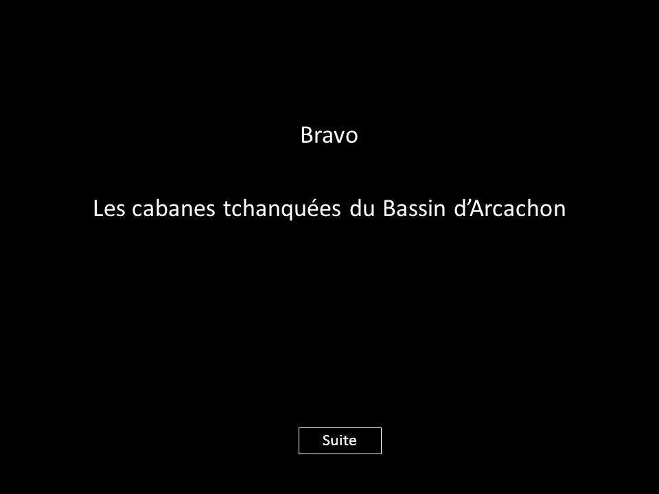 Bravo Les cabanes tchanquées du Bassin d'Arcachon