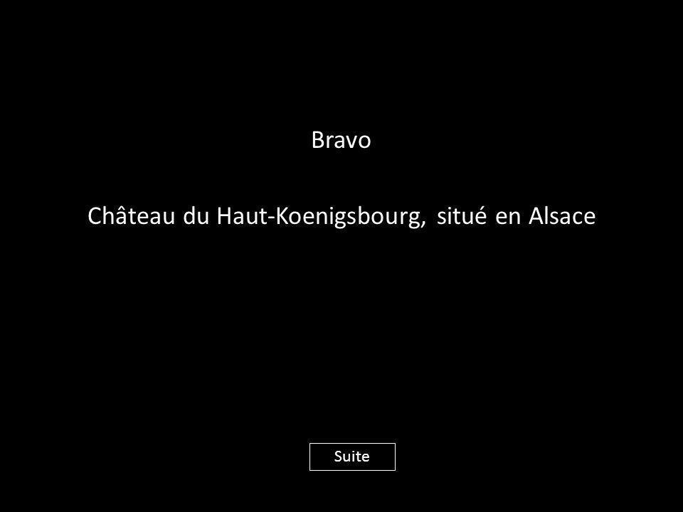 Bravo Château du Haut-Koenigsbourg, situé en Alsace