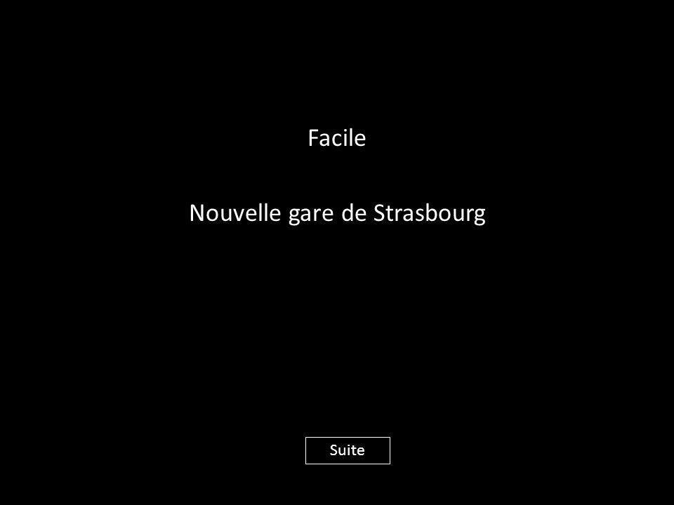 Facile Nouvelle gare de Strasbourg