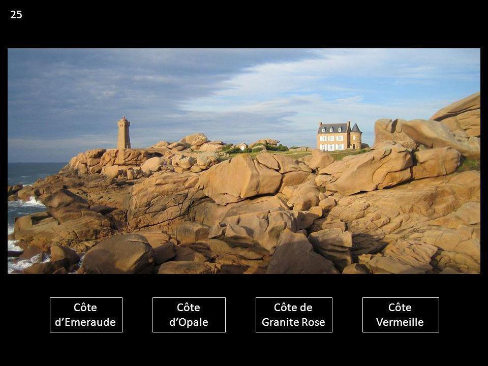 25 Côte d'Emeraude Côte d'Opale Côte de Granite Rose Côte Vermeille