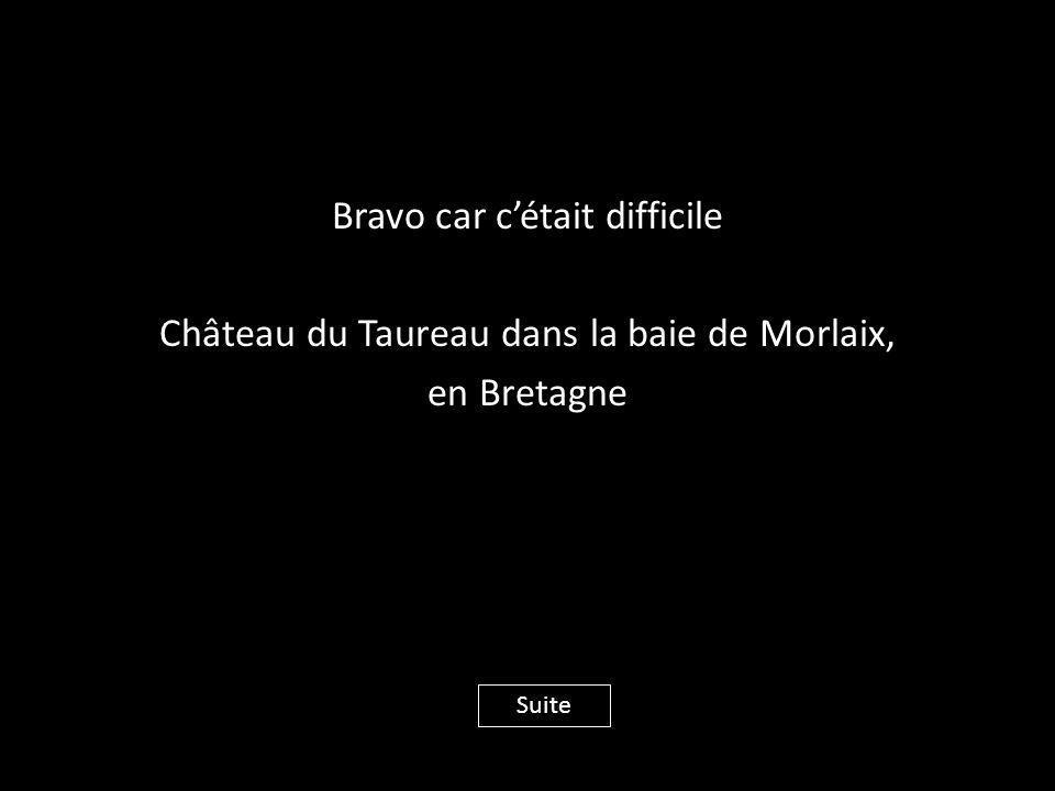 Bravo car c'était difficile Château du Taureau dans la baie de Morlaix, en Bretagne