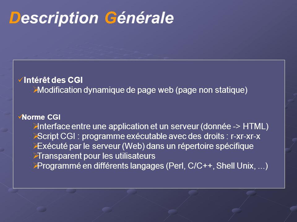 Exemple en Perl scriptcgi.pl : exécution automatique #!/usr/bin/perl