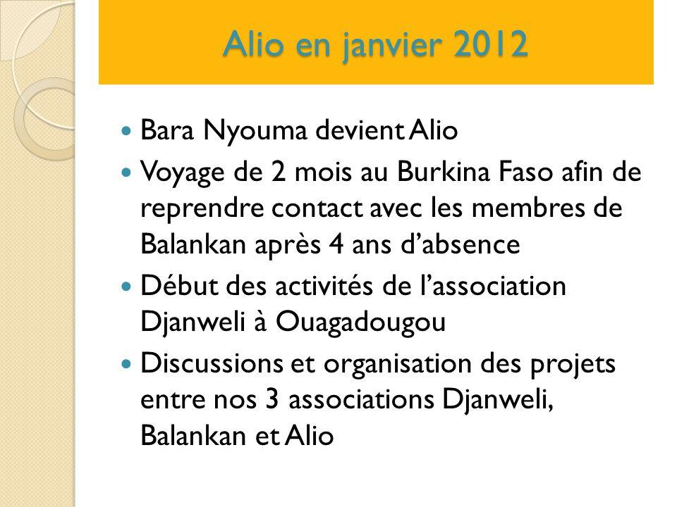 Alio en janvier 2012 Bara Nyouma devient Alio
