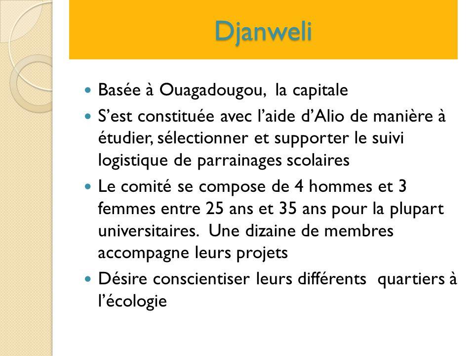 Djanweli Basée à Ouagadougou, la capitale