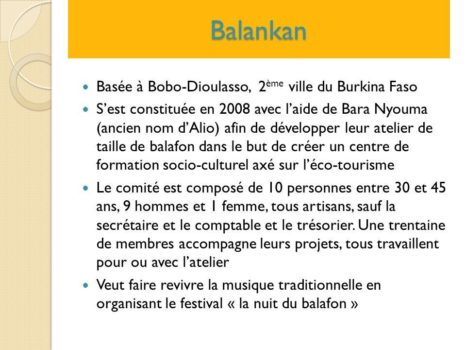 Balankan Basée à Bobo-Dioulasso, 2ème ville du Burkina Faso