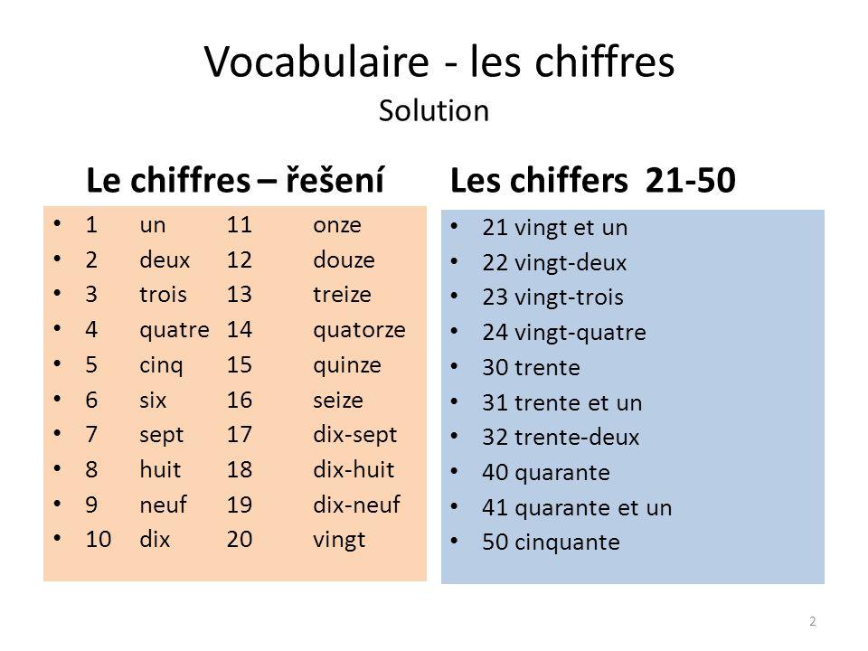 Vocabulaire - les chiffres 50-1000