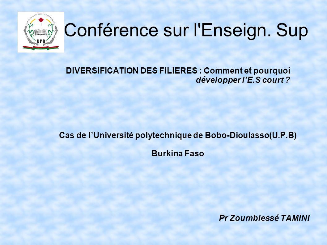 Conférence sur l Enseign. Sup