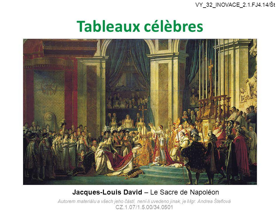 Tableaux célèbres Jacques-Louis David – Le Sacre de Napoléon