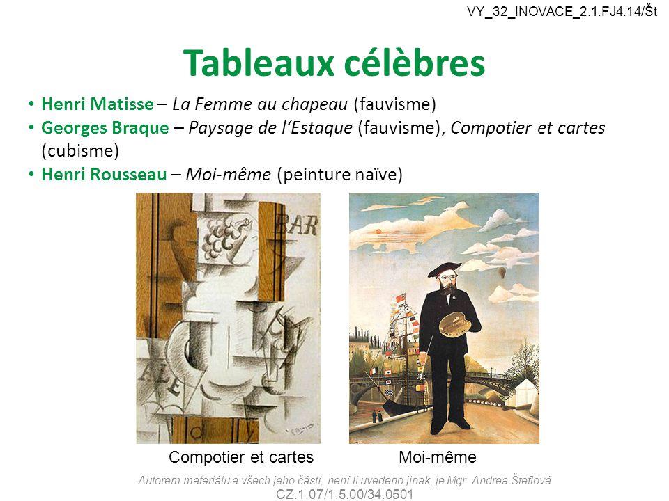 Tableaux célèbres Henri Matisse – La Femme au chapeau (fauvisme)