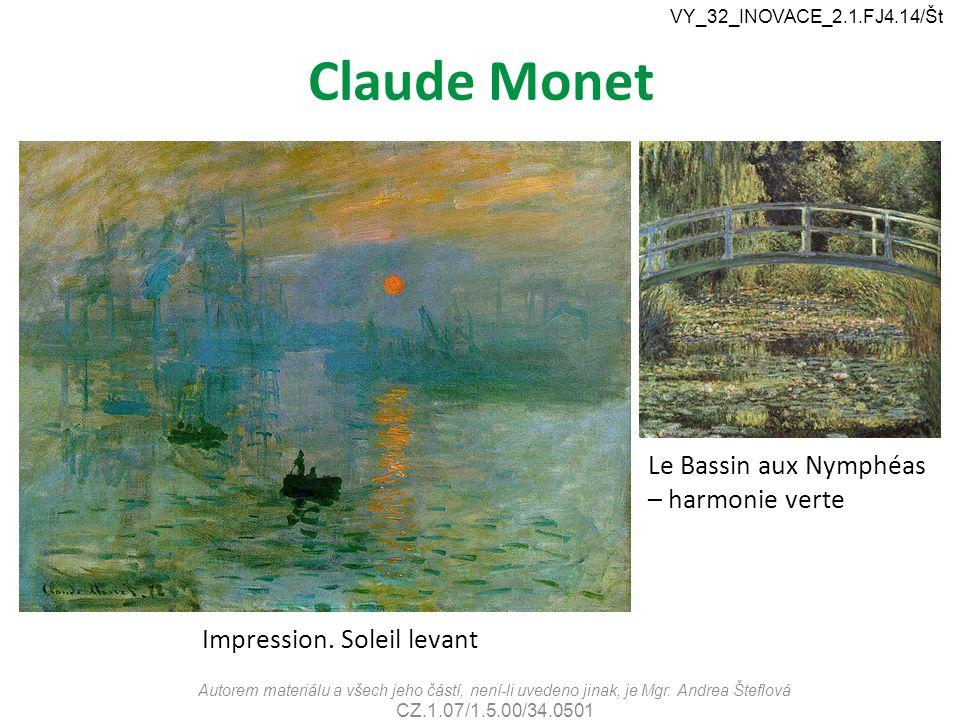 Claude Monet Le Bassin aux Nymphéas – harmonie verte