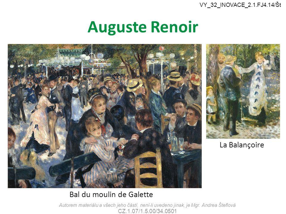 Auguste Renoir La Balançoire Bal du moulin de Galette
