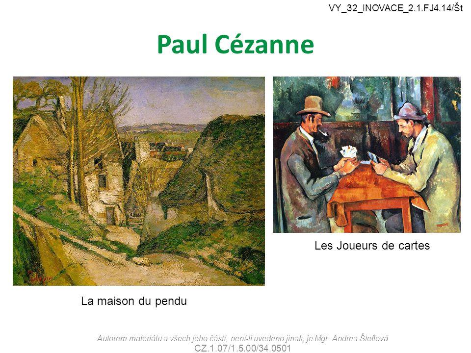 Paul Cézanne Les Joueurs de cartes La maison du pendu