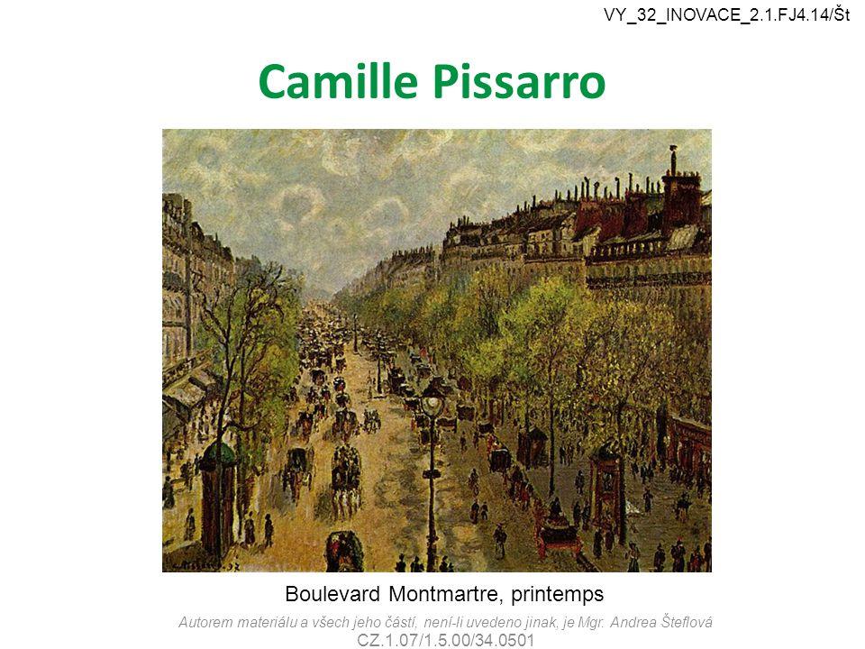 Camille Pissarro Boulevard Montmartre, printemps
