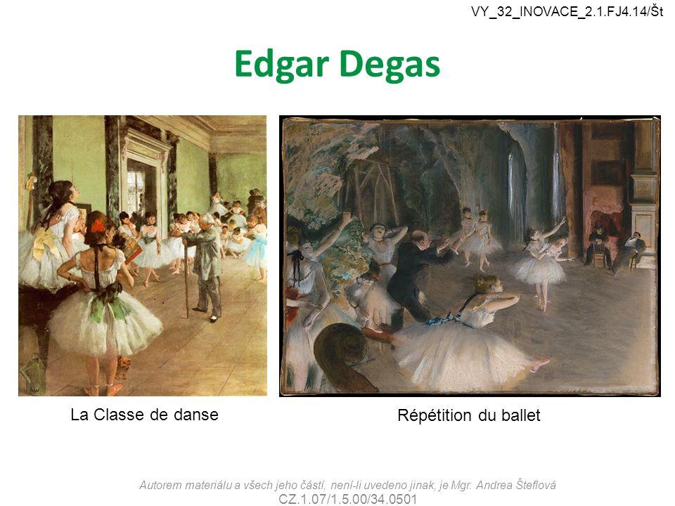 Edgar Degas La Classe de danse Répétition du ballet