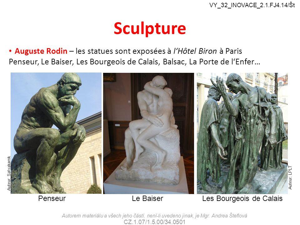 VY_32_INOVACE_2.1.FJ4.14/Št Sculpture. Auguste Rodin – les statues sont exposées à l'Hôtel Biron à Paris.