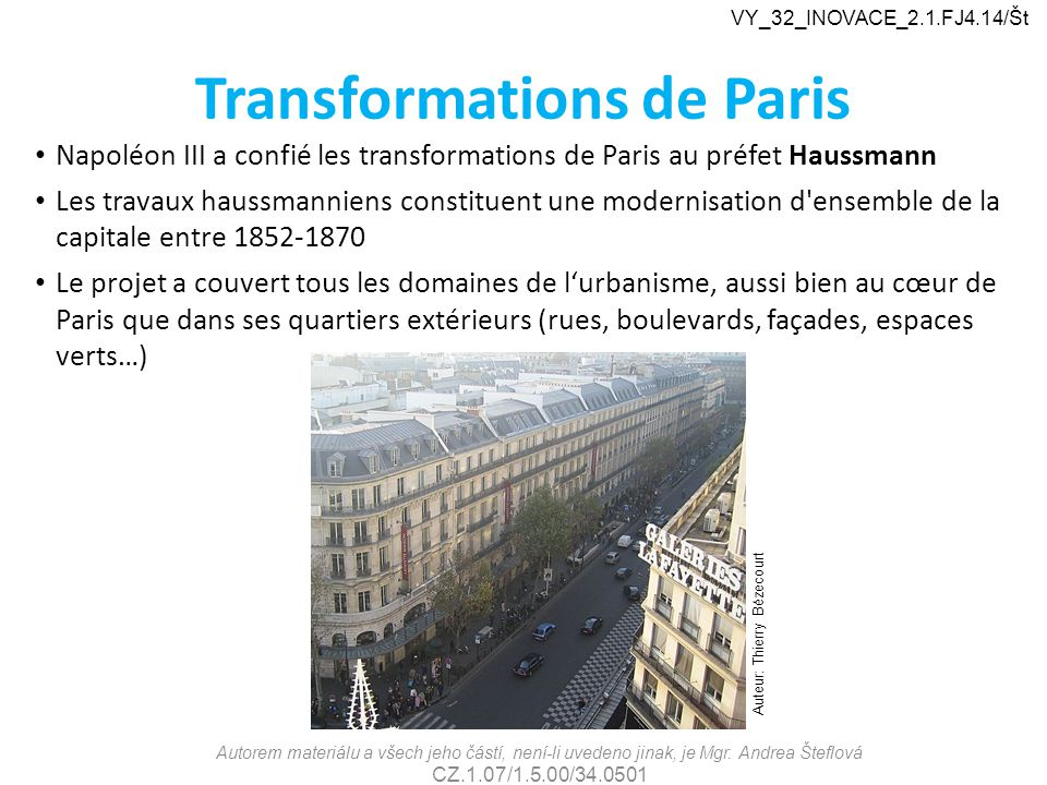 Transformations de Paris