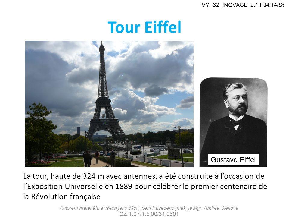 VY_32_INOVACE_2.1.FJ4.14/Št Tour Eiffel. Gustave Eiffel.