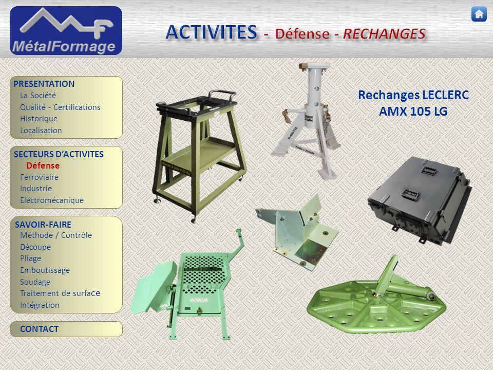 ACTIVITES - Défense - RECHANGES