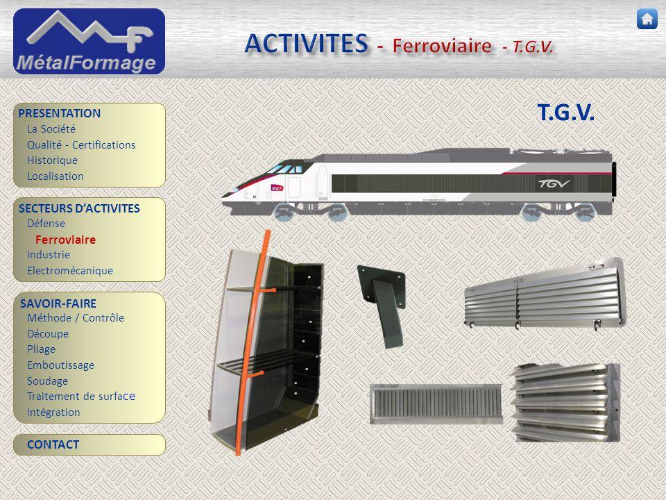 ACTIVITES - Ferroviaire - T.G.V.