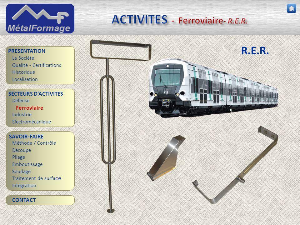 ACTIVITES - Ferroviaire- R.E.R.