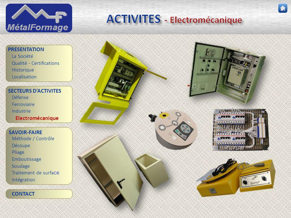 ACTIVITES - Electromécanique