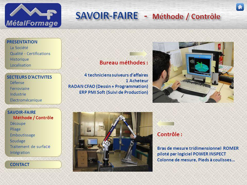 SAVOIR-FAIRE - Méthode / Contrôle