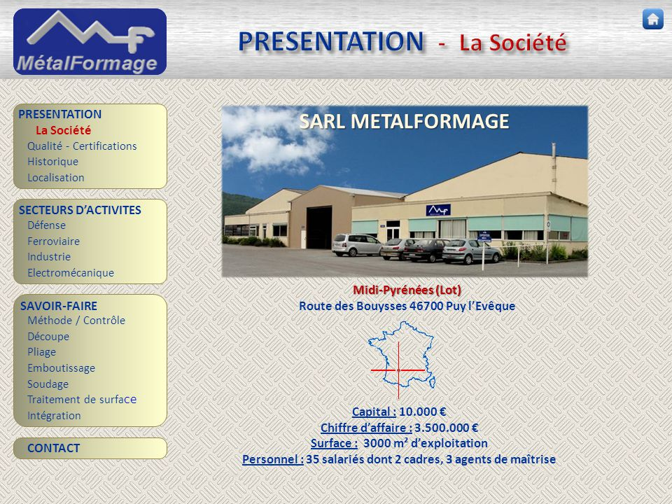 PRESENTATION - La Société
