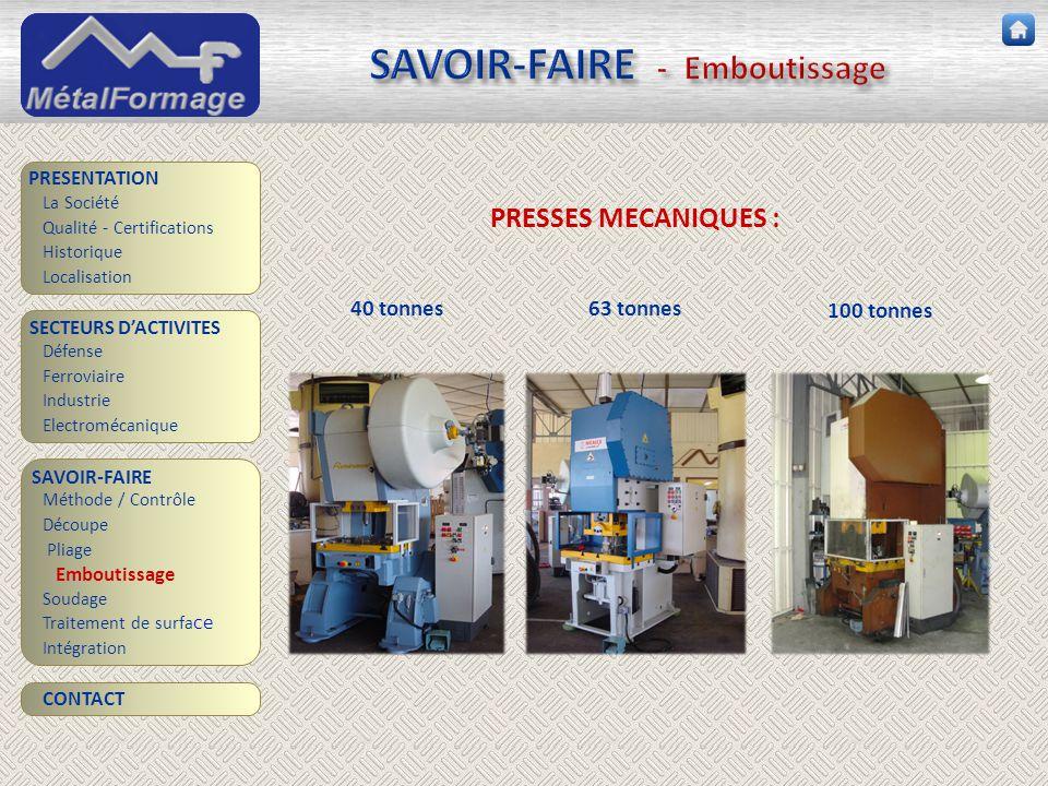 SAVOIR-FAIRE - Emboutissage