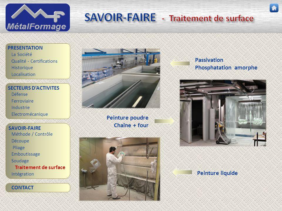 SAVOIR-FAIRE - Traitement de surface