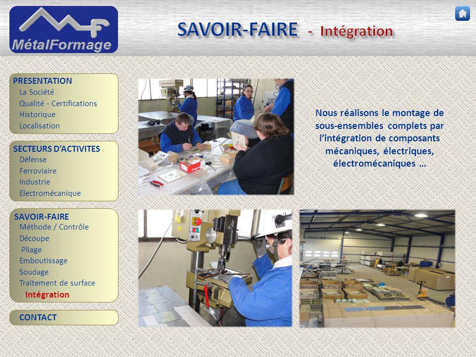 SAVOIR-FAIRE - Intégration