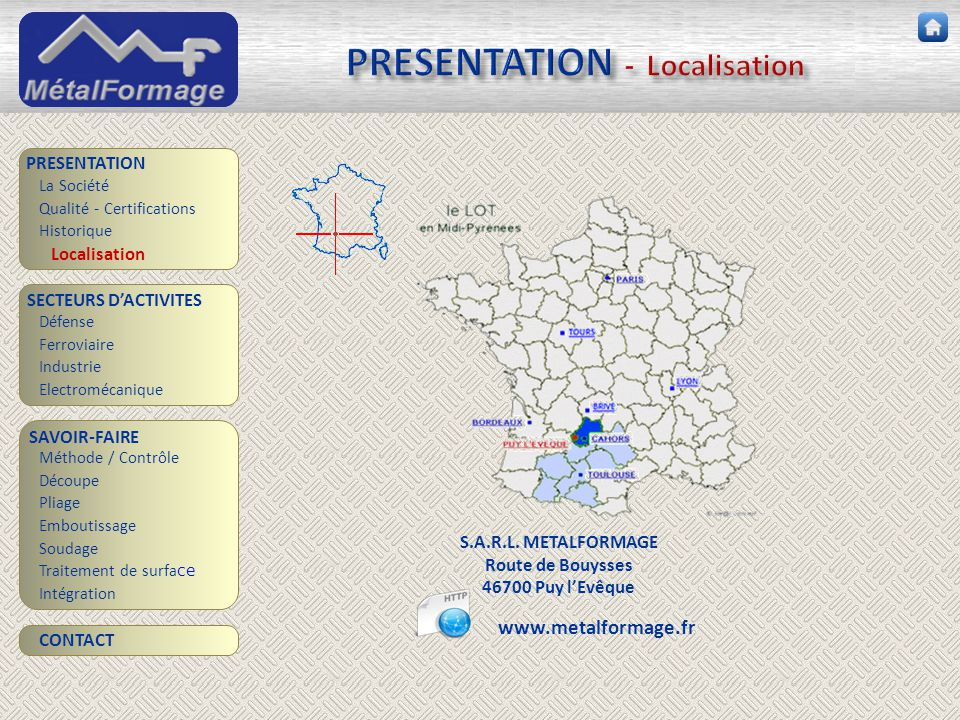 PRESENTATION - Localisation