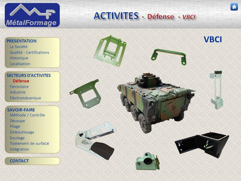 ACTIVITES - Défense - VBCI