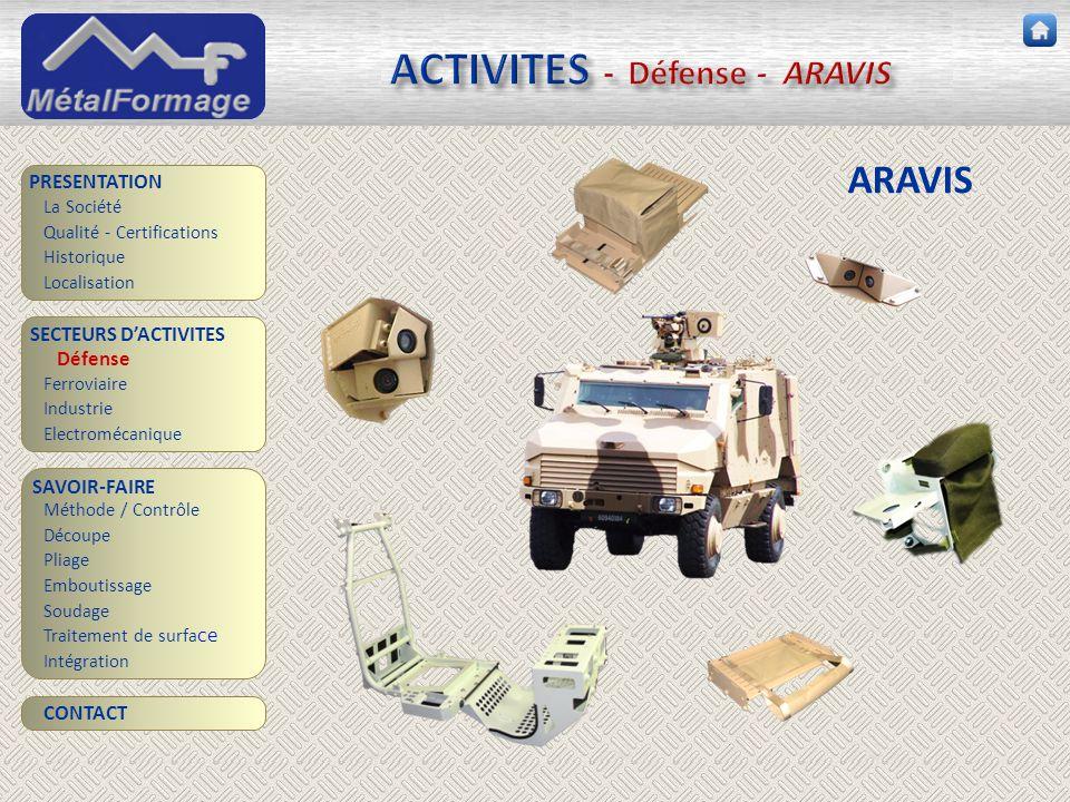 ACTIVITES - Défense - ARAVIS