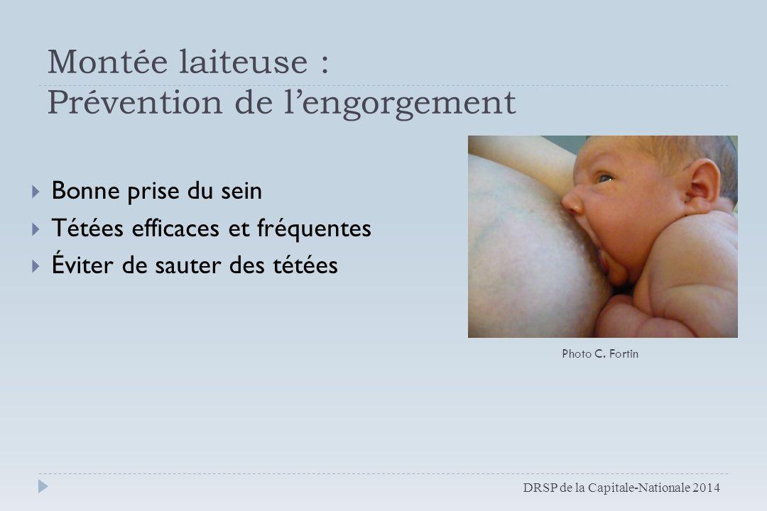 Montée laiteuse : Prévention de l'engorgement