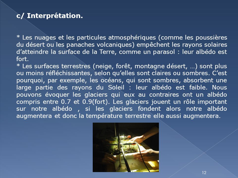 c/ Interprétation.