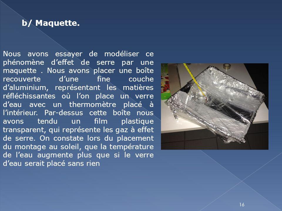 b/ Maquette.