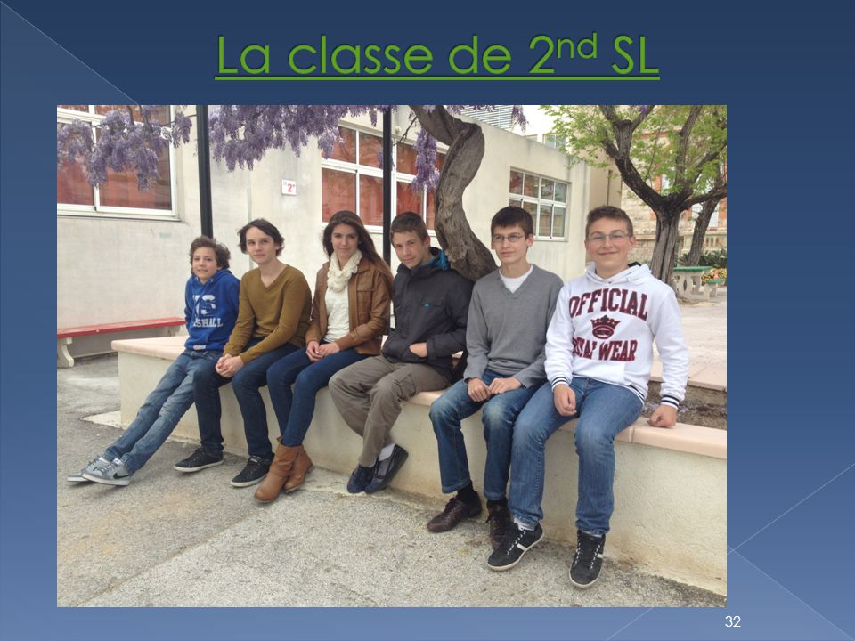 La classe de 2nd SL