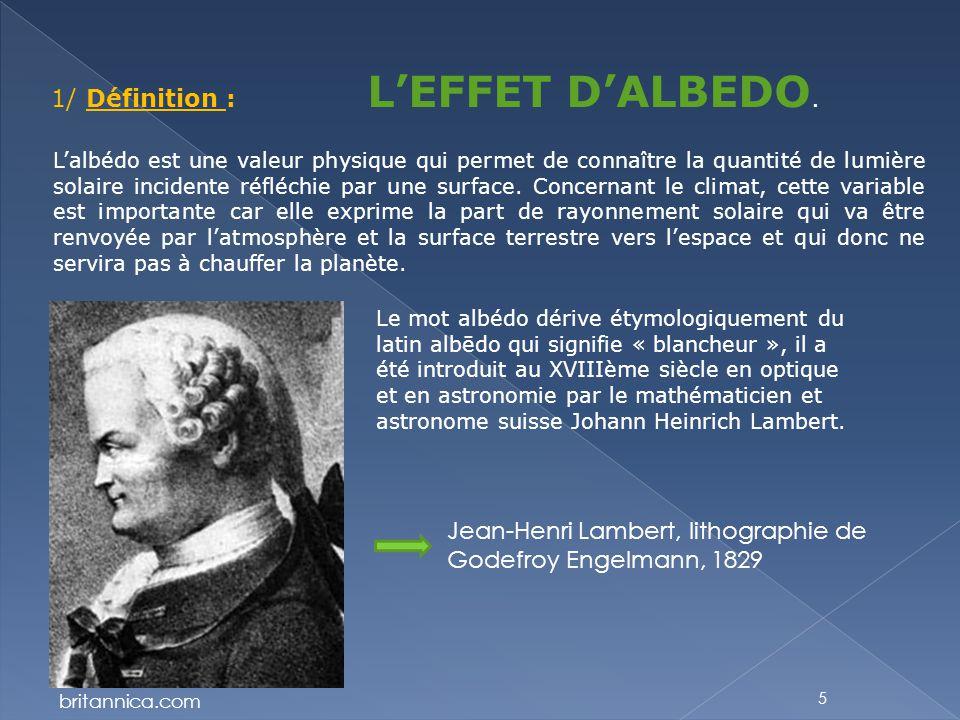 1/ Définition : L'EFFET D'ALBEDO.