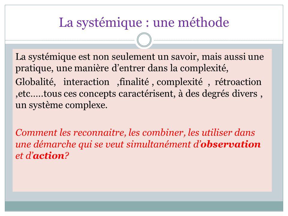 La systémique : une méthode