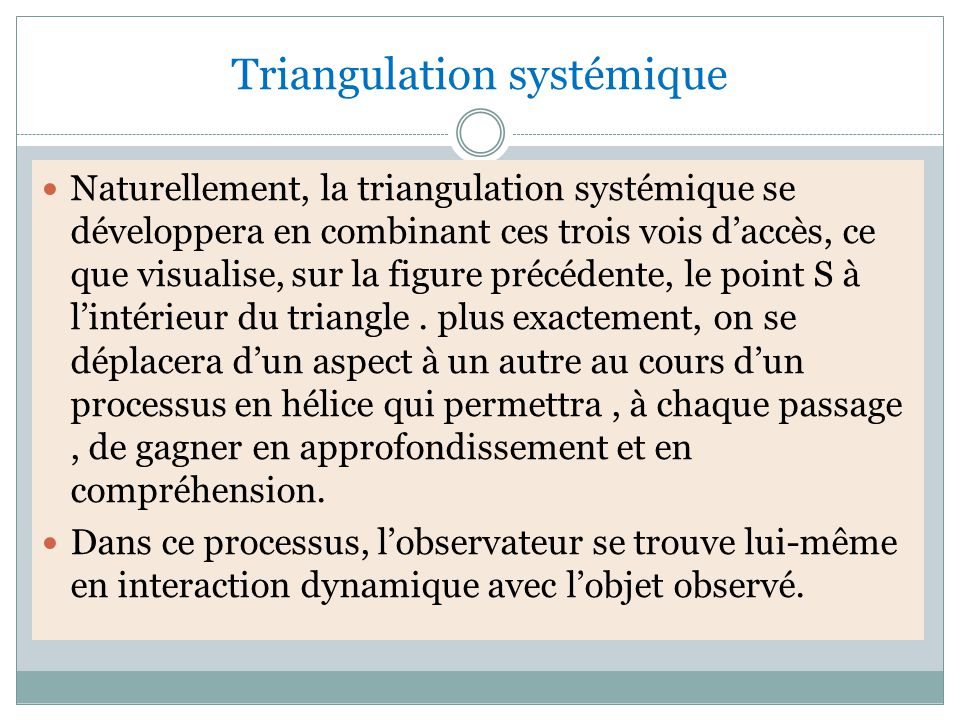 Triangulation systémique