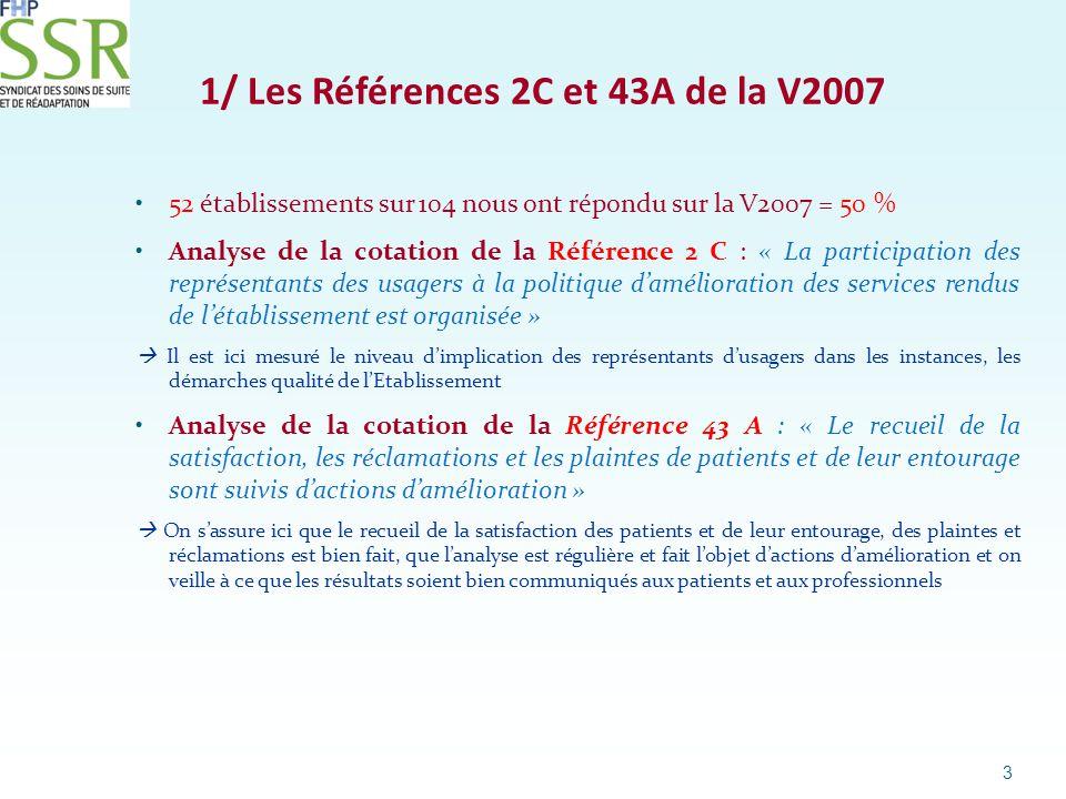 1/ Les Références 2C et 43A de la V2007