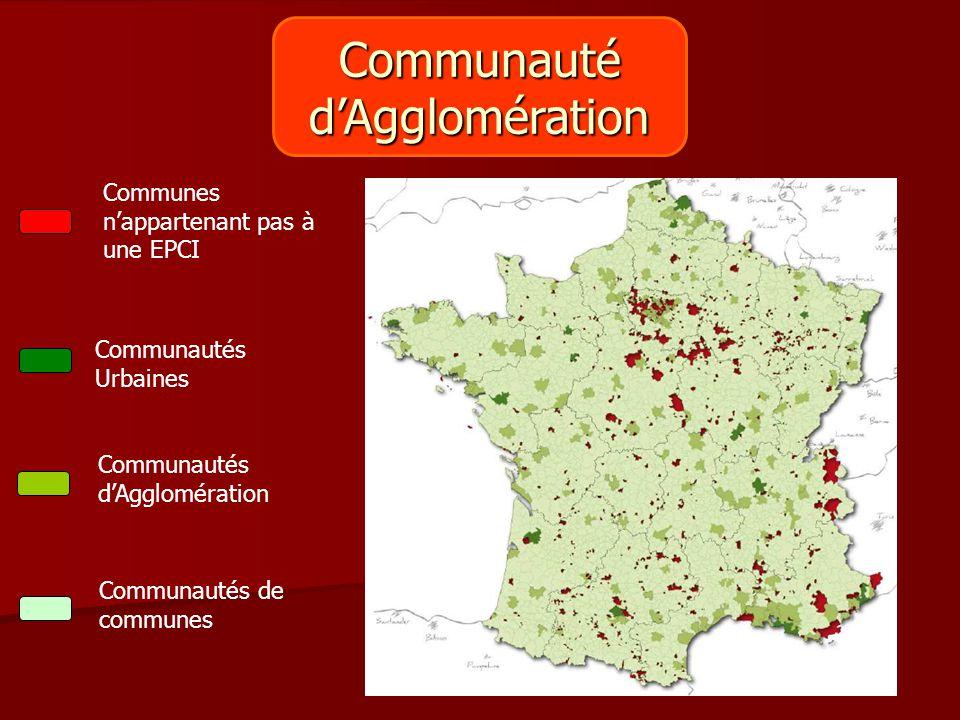 Communauté d'Agglomération Communes n'appartenant pas à une EPCI