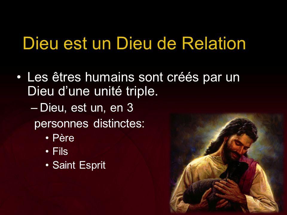 Dieu est un Dieu de Relation