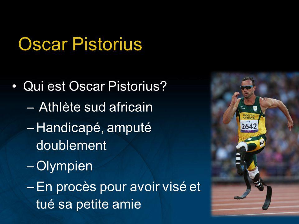 Oscar Pistorius Qui est Oscar Pistorius Athlète sud africain