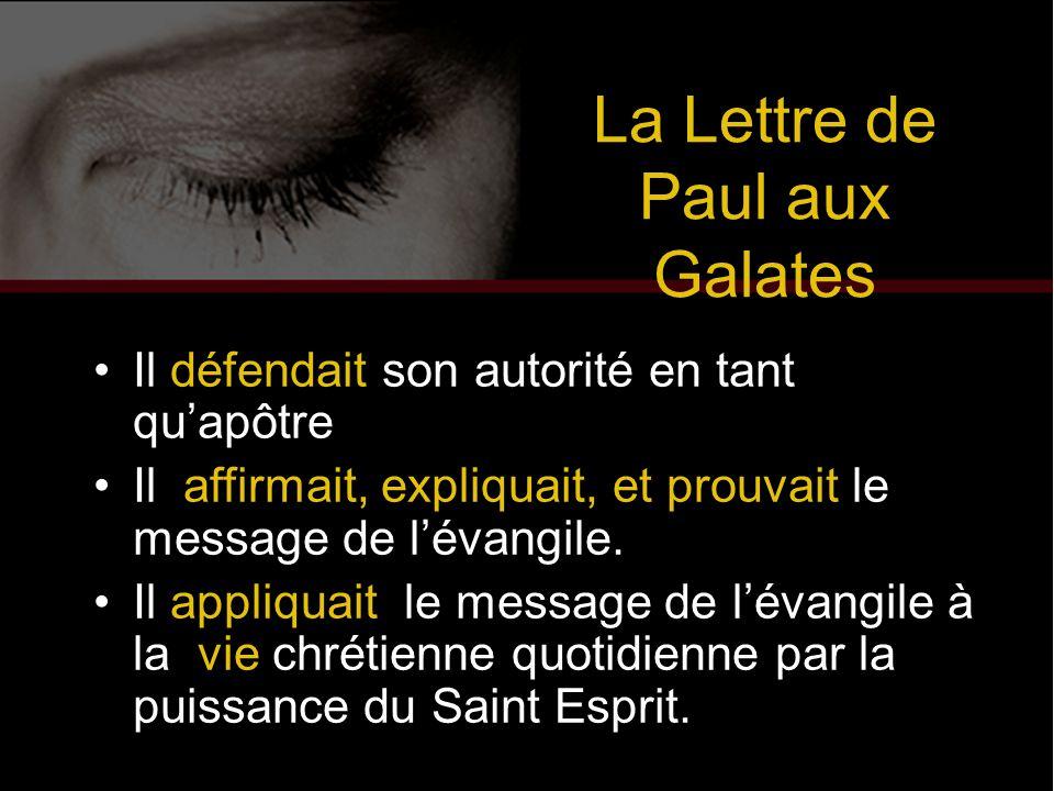 La Lettre de Paul aux Galates