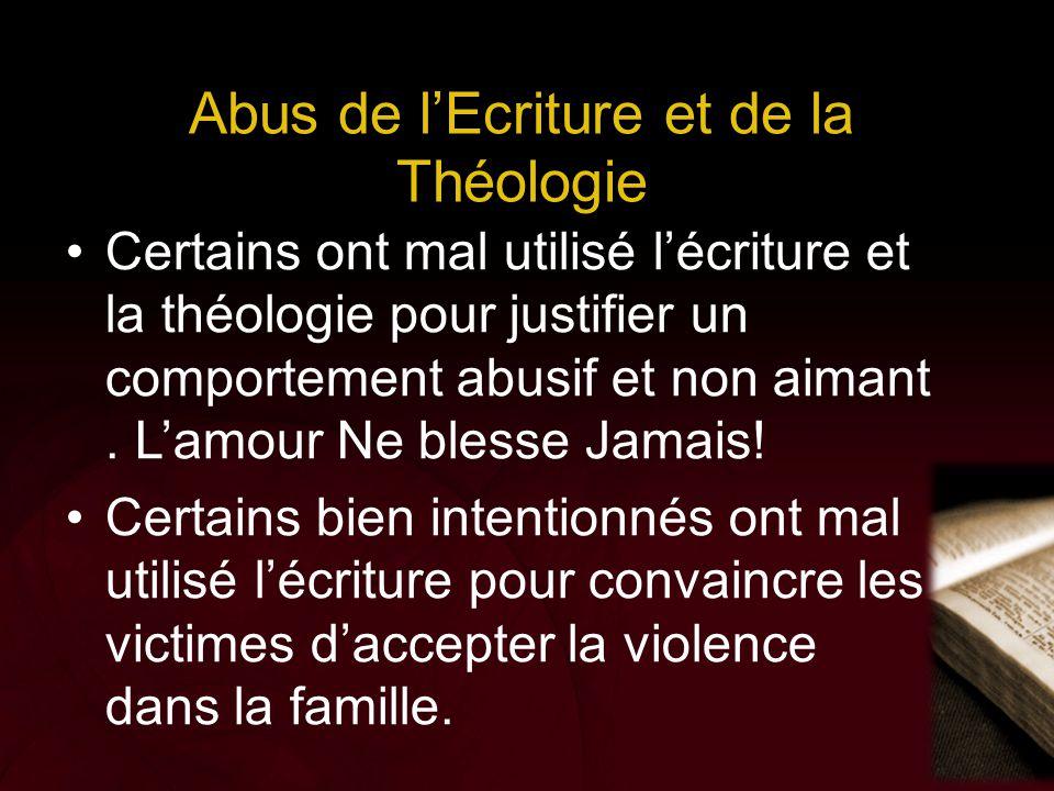 Abus de l'Ecriture et de la Théologie