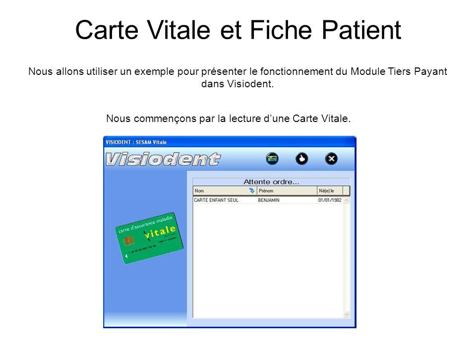 Carte Vitale et Fiche Patient