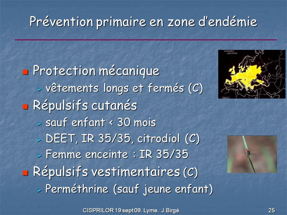 Prévention primaire en zone d'endémie