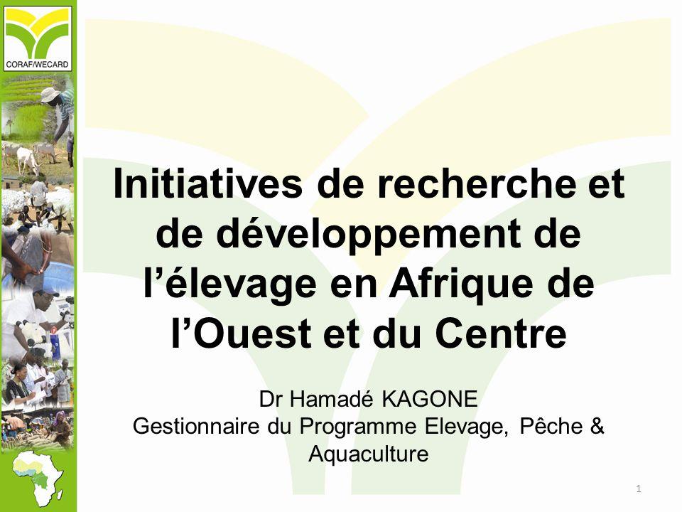 Initiatives de recherche et de développement de l'élevage en Afrique de l'Ouest et du Centre